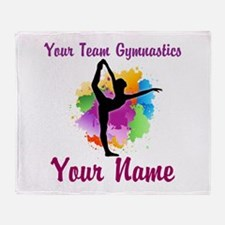 Customizable Gymnastics Team Throw Blanket