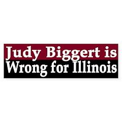 Judy Biggert: Wrong for Illinois (sticker)