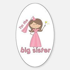 i'm the big sister princess Oval Decal
