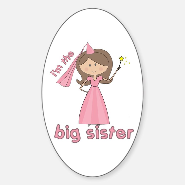 i'm the big sister princess Oval Decal
