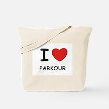 I love parkour Tote Bag