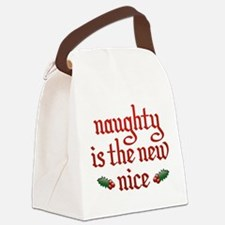 Naughty Is The New Nice Canvas Lunch Bag