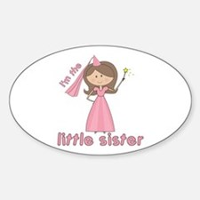 i'm the little sister princess Oval Decal