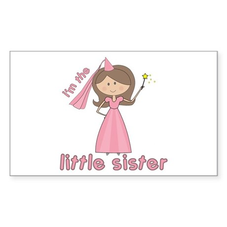 i'm the little sister princess Sticker (Rectangula