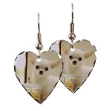 Chihuahua and pasta canister Earring
