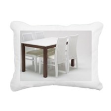 Dining table and chairs Rectangular Canvas Pillow