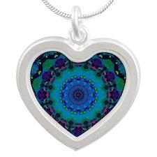 Mellow Art Mandala Silver Heart Necklace