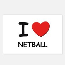 I love netball  Postcards (Package of 8)