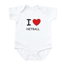 I love netball  Infant Bodysuit