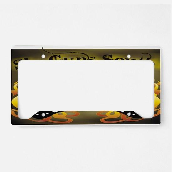 sixguns rectangle License Plate Holder