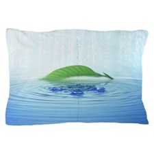 Leaf and rippling water Pillow Case