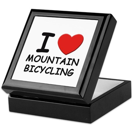 I love mountain bicycling Keepsake Box