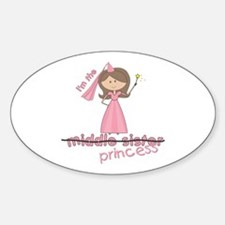 i'm the princess middle Oval Decal