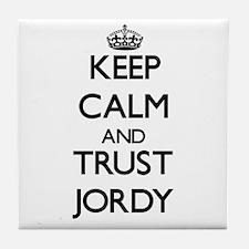 Keep Calm and TRUST Jordy Tile Coaster