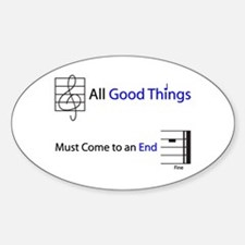 Good Things End Oval Decal