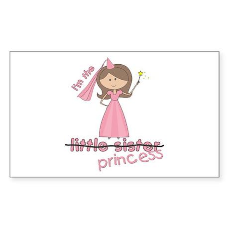 i'm the princess little Rectangle Sticker