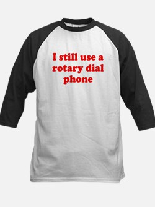 Rotary Dial Phone Kids Baseball Jersey