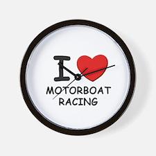 I love motorboat racing  Wall Clock