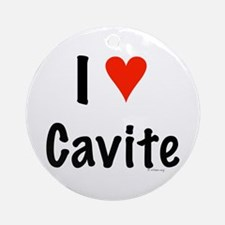 I love Cavite Ornament (Round)