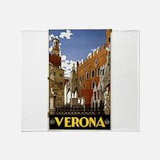 verona - anonymous - 1938 - poster Throw Blanket