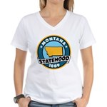 Montana Statehood Women's V-Neck T-Shirt