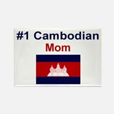 #1 Cambodian Mom Rectangle Magnet