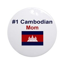 #1 Cambodian Mom Ornament (Round)