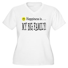 Happiness is MY BIG FAMILY T-Shirt