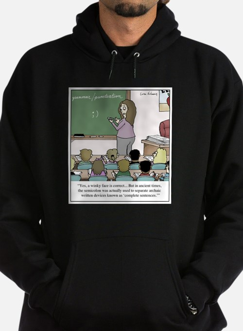 Using the Semicolon Sweatshirt