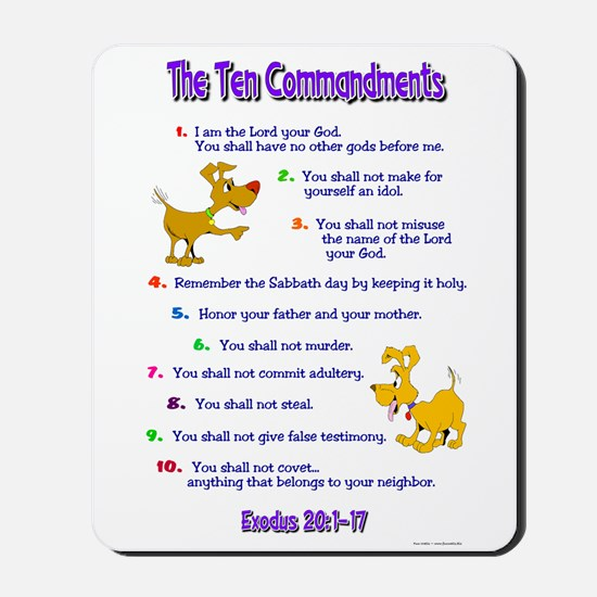 Ten Commandments Mousepad