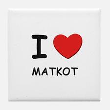 I love matkot  Tile Coaster