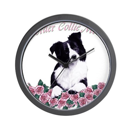 border collie mom Wall Clock