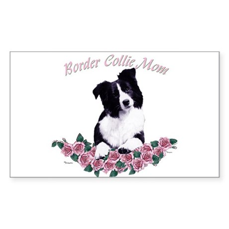 border collie mom Rectangle Sticker