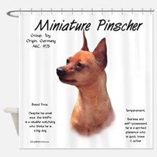 Min Pin (red/rust) Shower Curtain