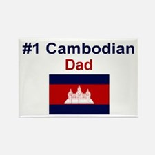 #1 Cambodian Dad Rectangle Magnet