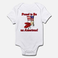 Ladybug Proud to be an American Infant Bodysuit