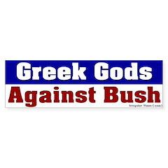 Anti-Bush Greek Gods Bumper Bumper Sticker