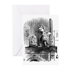 Alice through the Looking Gla Greeting Cards (Pack