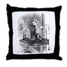 Alice through the Looking Gla Throw Pillow
