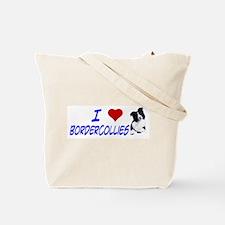 i love border collie Tote Bag