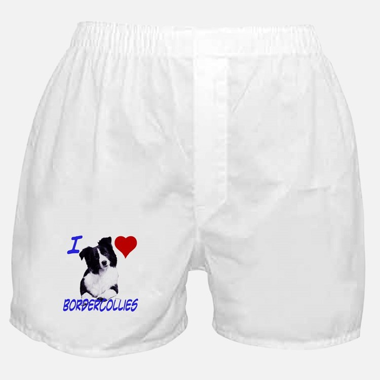 i love border collie Boxer Shorts