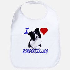 i love border collie Bib