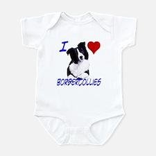 i love border collie Infant Bodysuit