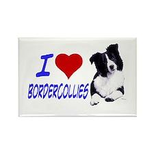 i love border collie Rectangle Magnet