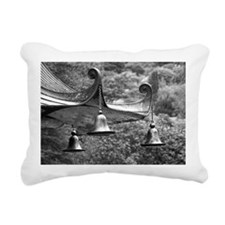Three Bells on Pagoda Rectangular Canvas Pillow