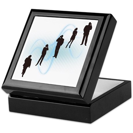 A person's silhouette, Mobile phone Keepsake Box