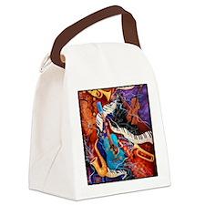 Jazz Music Guitar Piano Scene Canvas Lunch Bag