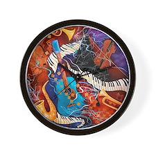 Jazz Music Guitar Piano Scene Wall Clock