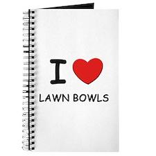 I love lawn bowls Journal