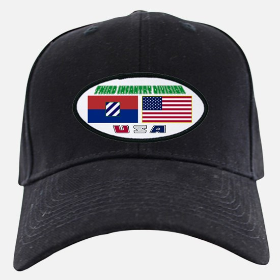 US and 3ID Flags Baseball Hat